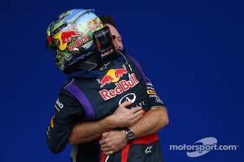 Sebastian Vettel, Red Bull Racing and Christian Horner, Red Bull Racing Team Principal