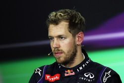 Race winner Sebastian Vettel, Red Bull Racing in the FIA Press Conference
