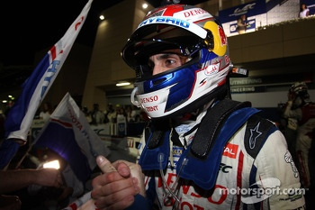 Race winner Sebastien Buemi celebrates