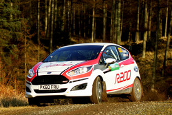 Elfyn Evans and Richard Millener test the Ford Fiesta R200