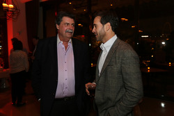 NASCAR-CUP: NASCAR president Mike Helton with 2013 champion Jimmie Johnson