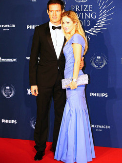 (L to R): Sébastien Ogier, WRC World Champion, with his wife