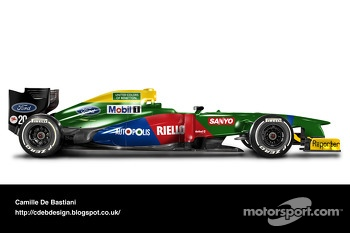 Retro F1 car - Benetton 1990