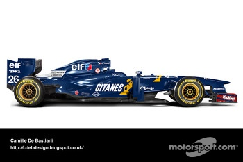 Retro F1 car - Ligier 1995