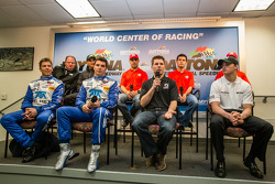 Chip Ganassi Racing press conference: Chip Ganassi, Jamie Allison from Ford Racing, Tony Kanaan, Kyle Larson, Marino Franchitti, Scott Pruett, Memo Rojas, Jamie McMurray, Sage Karam