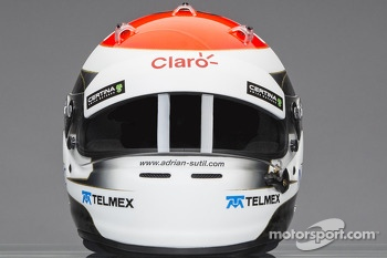 The helmet of Adrian Sutil, Sauber F1 Team