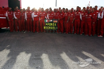 Ferrari send their best wishes to Michael Schumacher