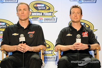 Kevin Harvick and Kurt Busch