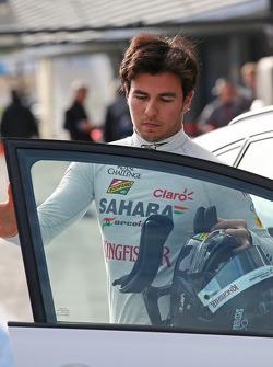 Sergio Perez, Sahara Force India F1 returns to the pits