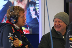 Sebastian Vettel, Red Bull Racing with his father Norbert Vettel (GER)