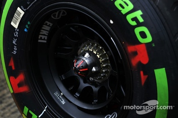 Pirelli tyre and wheel nut