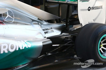 Mercedes AMG F1 W05 rear suspension detail