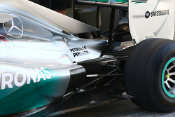 Mercedes AMG F1 W05 rear suspension detail