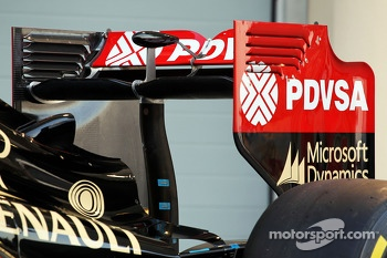 The Lotus F1 E22 is officially unveiled - rear wing detail