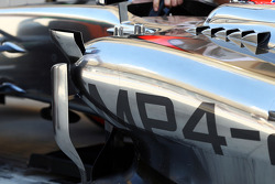Jenson Button, McLaren MP4-29 sidepod detail