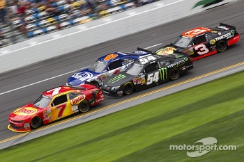 Brad Keselowski, Regan Smith and Kyle Busch