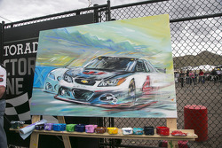 Artist rendering of race winner Kevin Harvick, Stewart-Haas Racing Chevrolet