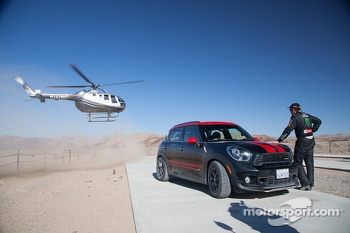 Jay Leno and Nani Roma share the Dakar winning Mini