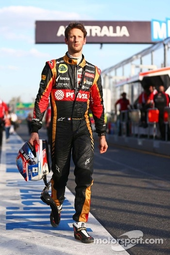 Romain Grosjean, Lotus F1 Team.