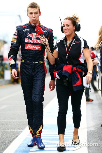 Daniil Kvyat, Scuderia Toro Rosso with Natalie Pinkham, Sky Sports Presenter