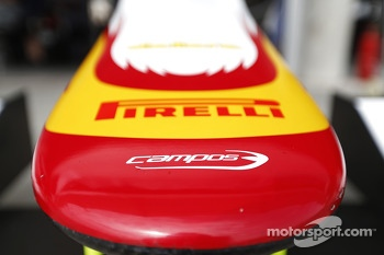 The nose cone of Campos Racing