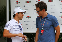 (L to R): Felipe Massa, Williams with Bruno Senna