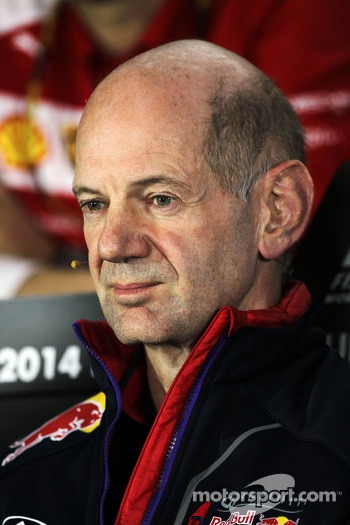 Adrian Newey, Red Bull Racing Chief Technical Officer in the FIA Press Conference