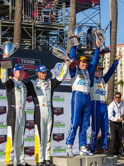 Race winners Scott Pruett, Memo Rojas, Jan Magnussen, Antonio Garcia
