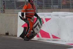 Tiago Monteiro, Honda Civic WTCC, Castrol Honda WTC Team, crash