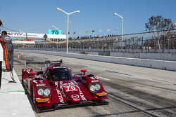 Early retirement for #70 SpeedSource Mazda: Tom Long, Sylvain Tremblay