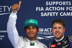 Lewis Hamilton, Mercedes AMG F1 Team ans Sebastian Vettel, Red Bull Racing
