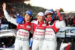 Second place #1 Audi Sport Team Joest Audi R18 e-tron quattro: Lucas di Grassi, Loic Duval, Tom Kristensen