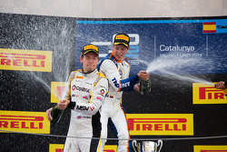 Podium: race winner Johnny Cecotto, second place Jolyon Palmer