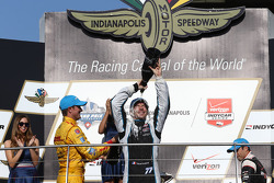 Race winner Simon Pagenaud, second place Ryan Hunter-Reay