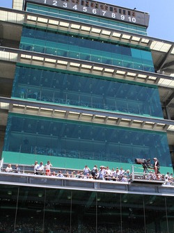 Fans watch from high in the Pagoda suites