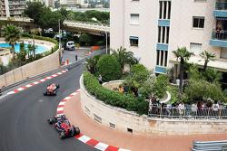 Jules Bianchi, Marussia F1 Team MR03 leads Jean-Eric Vergne, Scuderia Toro Rosso STR9