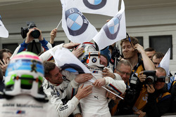 Marco Wittmann, BMW Team RMG BMW M4 DTM celebrate his victory