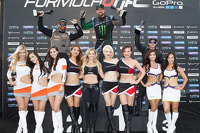 Podium: winner Vaughn Gittin Jr., second place Chris Forsberg, third place Kenny Moen