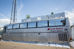 Audi Sport Team Joest paddock area