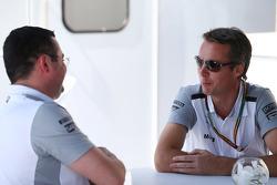 Eric Boullier, McLaren Racing Director with Sam Michael, McLaren Sporting Director
