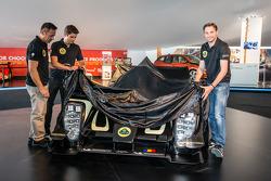 Lotus T129 LMP1 presentation: Pierre Kaffer, Christophe Bouchut and Christijan Albers unveil the new Lotus T129 LMP1