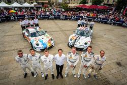 #79 Prospeed Competition Porsche 911 GT3 RSR (997): Cooper MacNeil, Bret Curtis, Jeroen Bleekemolen, #75 Prospeed Competition Porsche 911 GT3 RSR (997): François Perrodo, Emmanuel Collard, Markus Palttala