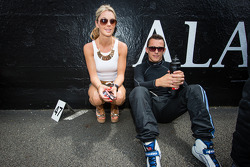 Christian Klien with his charming girlfriend