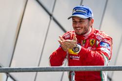 LMGTE Pro podium: class winner Giancarlo Fisichella