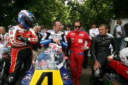 Steve Parrish, Freddie Spencer, Emerson Fittipaldi and Stuart Graham