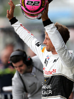 Second place qualifying for Jenson Button, McLaren F1 Team