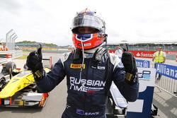 Race winner Mitch Evans
