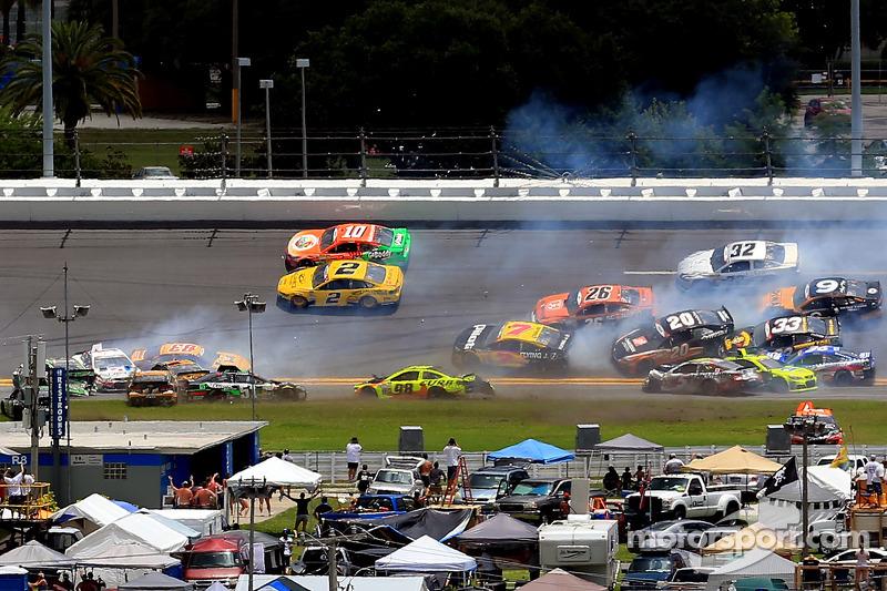 Multi-car crash involving Matt Kenseth and Kyle Busch, among others