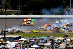 Multi-car crash involving Matt Kenseth and Kyle Busch, among others