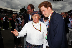 Jackie Stewart, with HRH Prince Harry, on the grid